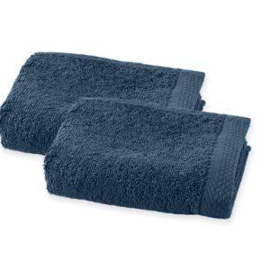 Serviette de toilette éponge bleu jean