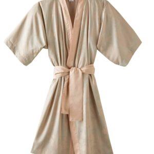 Peignoir reseda poudre kimono