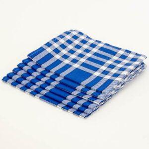 serviette de table carreaux bleu