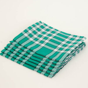 serviette de table carreaux vert