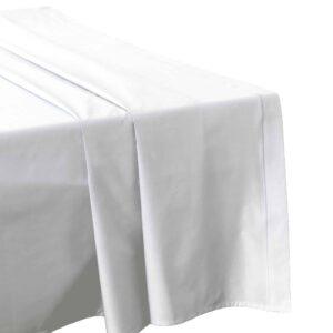 Drap plat blanc