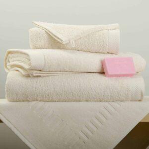 Drap de douche/bain/ serviette éponge beige