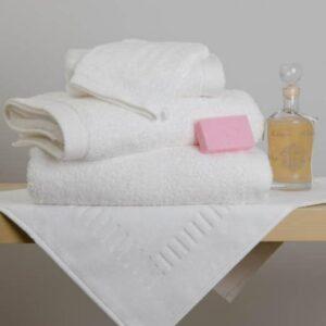 Drap de douche/bain / serviette éponge blanche