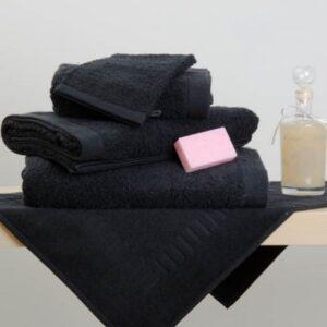 Drap de douche/bain Eponge noir uni