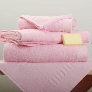 Drap de douche/bain Eponge rose
