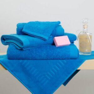 Drap de douche-bain- serviette Eponge turquoise