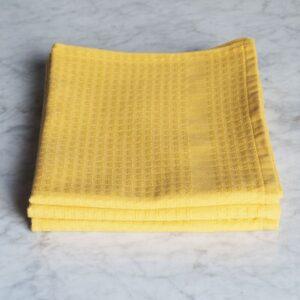 Torchon gaufrex jaune