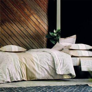 Linge de lit cadences sable