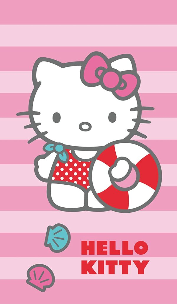 Drap de plage Hello Kitty