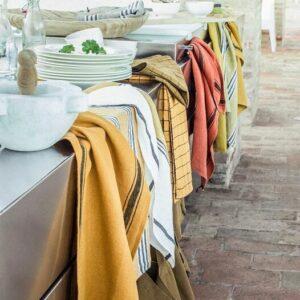 Torchons en lin lavé